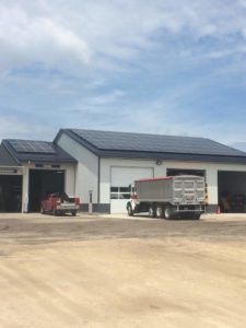 Nearly 100 solar panels were recently installed at Garnavillo Auto by FreeWind/Roger Zearly